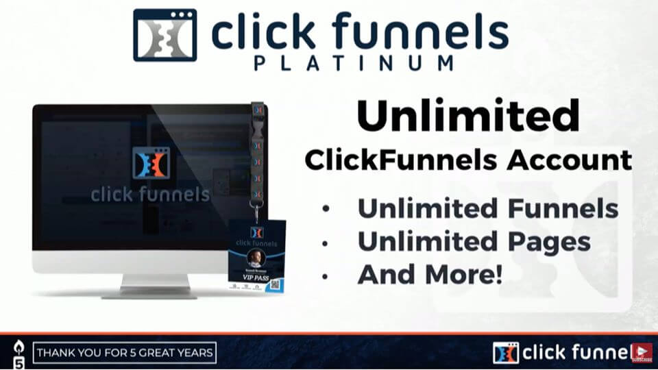 Unlimited ClickFunnels Account